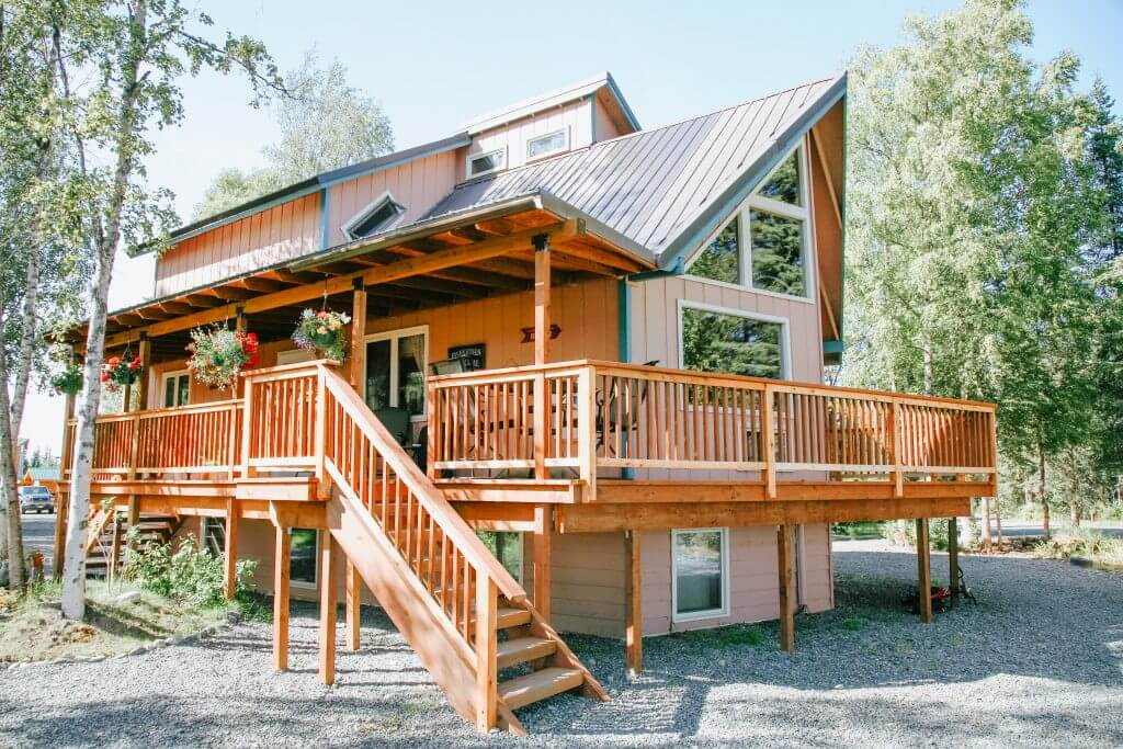 Another view of our Kenai River lodge. Finest fishing in Alaska.